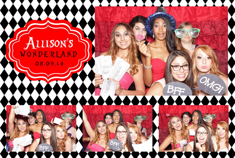 Alice in Wonderland photo booth print