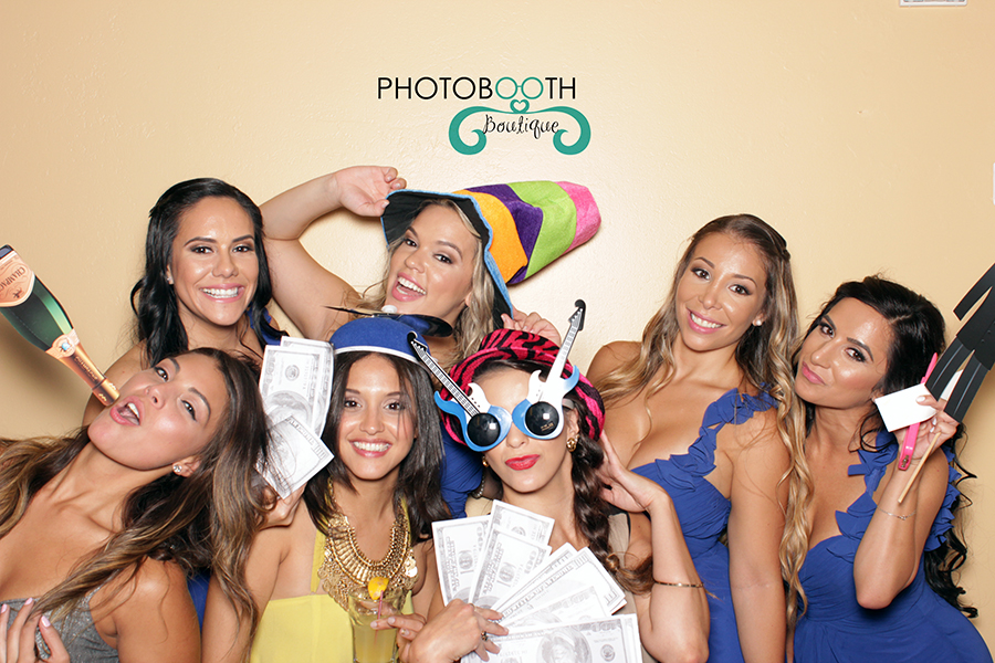 Photo Booth with Bridesmaids