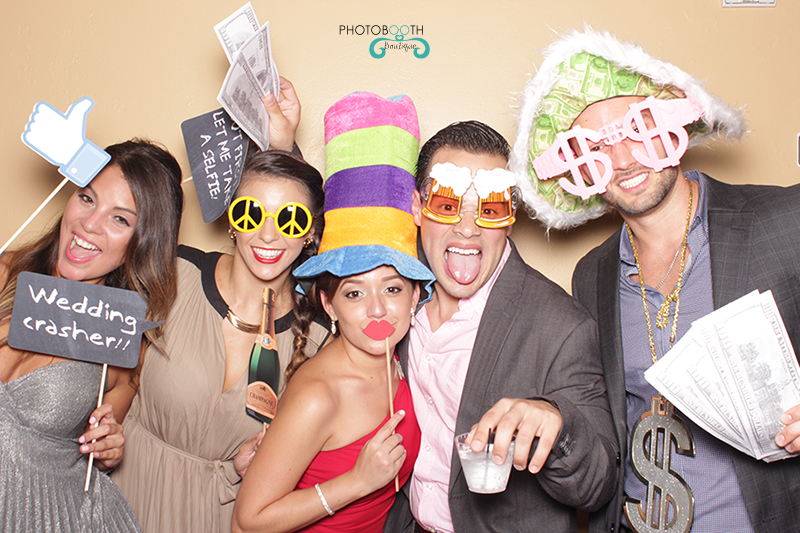 Wedding photo booth fun with props