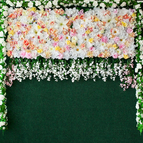 photo booth flower wall backdrop