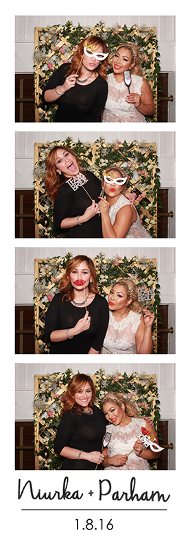 Smith & Wollensky wedding photo booth